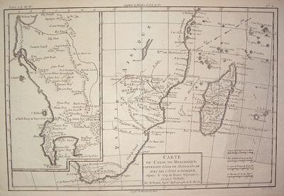 Paris: Bonne, Rigobert, 1788. unbound. very good. Map. Uncolored copper plate engraving. Image measu...