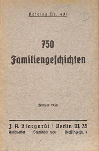 Catalogue 401/1938: 750 Familiengeschichten.
