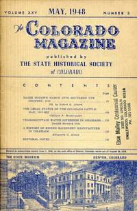 The Colorado Magazine May 1948 Volume XXV Number 3