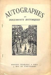 Bulletin Supplémentaire no.17/1956 : Autographes et Documents Historiques