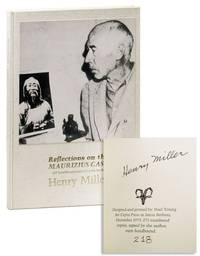 Reflections on the Maurizius Case (A Humble Appraisal of a Great Book) [Limited Edition, Signed] by  Henry MILLER - Signed First Edition - 1974 - from Lorne Bair Rare Books and Biblio.com