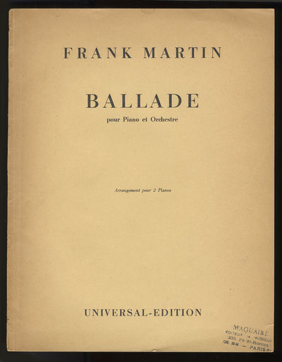 Wien: Universal Edition , 1948. Folio. Original dark ivory printed wrappers. , 52 pp. A facsimile of...