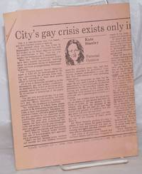 image of City's Gay crisis exists only in mind of Moral Majority: offprint of column from the StarTribune [handbill]
