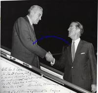 Averell Harriman Signs A Photo To Ambassador William Blair After Visiting Manila