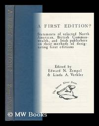 A First Edition? : Statements of Selected North American, British Commonwealth, and Irish...