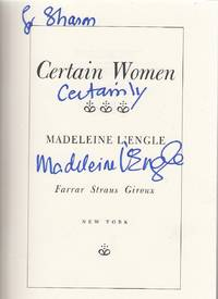 Certain Women first edition inscribed by the author