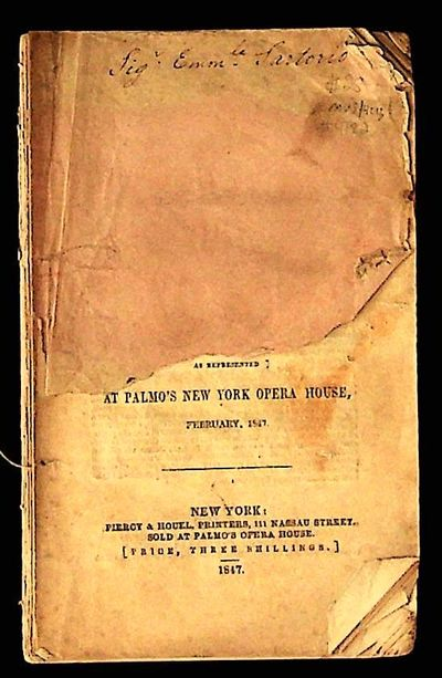 New York: Piercy and Houel, 1847. Paperback. Good. Paperback. SCARCE. Good in wraps. Half of front c...