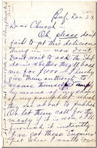 "[Original Autograph Letter, Signed (""Mark"") To Willard Church]"