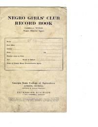 Negro Girls' Club Record Book, 1920s
