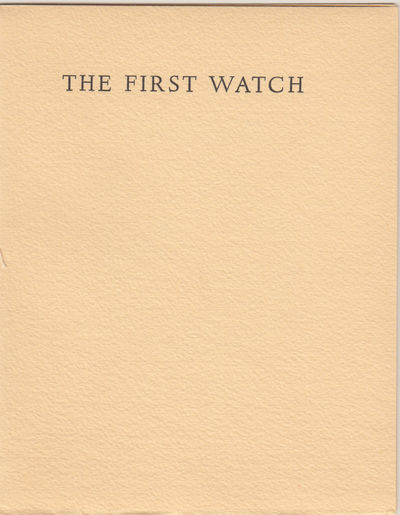 first edition. NY, Marguerite and Louis Henry Cohn, 1947, first edition, wrappers. Softcover. First ...