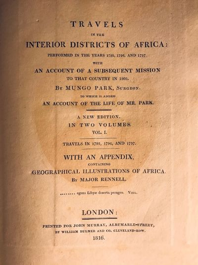 Travels in the interior districts of...