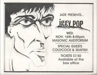 JADE PRESENTS ... IGGY POP [Concert Flyer]