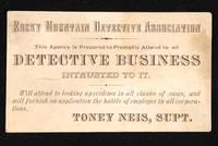 Rocky Mountain Detective Association, Tony Neis, Supt.