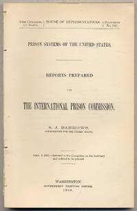 image of Prison Systems OF THE UNITED STATES: REPORTS PREPARED FOR THE INTERNATIONAL PRISON COMMISSION