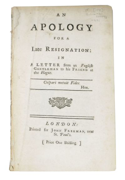 London: Printed for John Freeman, near St. Paul's, 1748. 1st edition (Gulick 310). Disbound, now hou...