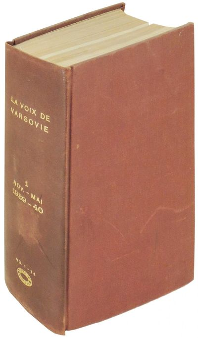 Paris, 1940. Hardcover. Very Good. Hardcover. Very good in burgundy cloth with gilt lettering. Libra...
