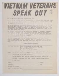 image of Vietnam Veterans speak out [handbill]
