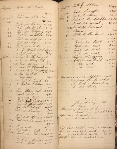Good. Hardcover. Account book from the Waterbury/Wallingford area of Connecticut dated from 1849 to ...