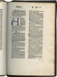 Tabula super Summam theologicam of Anthony of Florence [imprint]; with two manuscript sections:Tabula brevis of the Summa Hostiensis by Henry Segusio, and a Table of canon law subjects