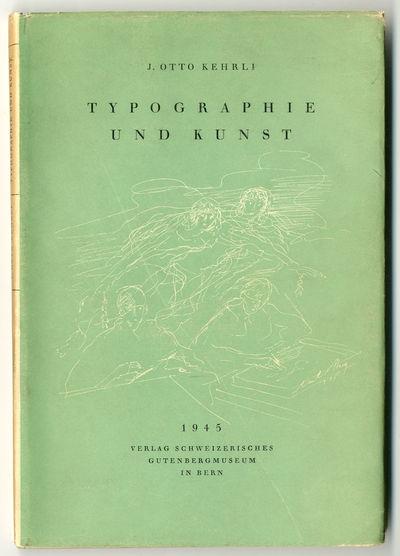 Bern: Schweizerischen Gutenbergmuseums, 1945. 84pp. Gilt cloth. Black & white and color plates. Firs...