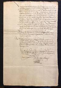 [ST. BARTHOLOMEW'S DAY MASSACRE, 1572]. Autograph Letter Signed, being a contemporary account the...