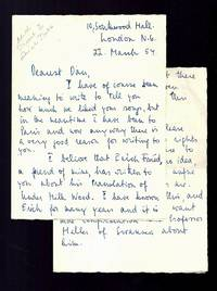 Autograph Letter Signed to Composer Daniel Jones about Erich Fried translating Dylan Thomas