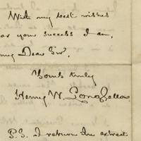 Longfellow Writes An Aspiring Poet On the Source of Success: It is in your own hands You exaggerate when you say that my decision may make or mar your future. A jury of twelve men could not do that. It is in your own hands..