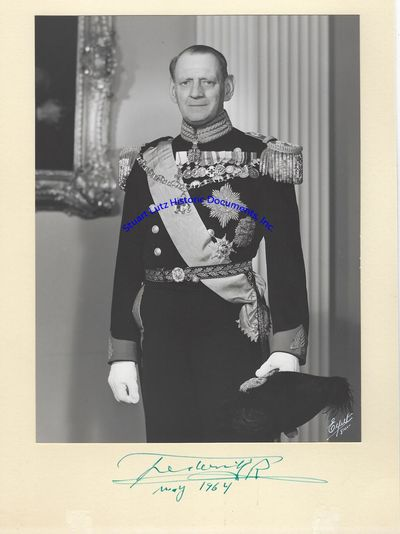 """KING FREDERICK IX (1899-1972). Frederick was King of Denmark from 1947 to 1972. PS. 8"""" x 10"""". Ma..."""