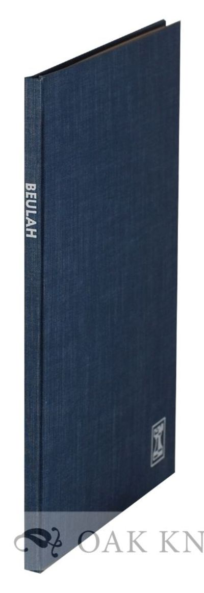 Daytona Beach, FL: The Rook Press, 1970. cloth. Rook Press. 8vo. cloth. 25+(1) pages. Limited to 52 ...