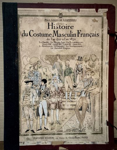 Paris: Editions Nilsson, 1927. First edition. Hardcover. Orig. illustrated board and cloth portfolio...