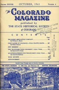 The Colorado Magazine October 1961 Vollume XXXVIII Number4