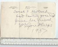 Autographed Letter