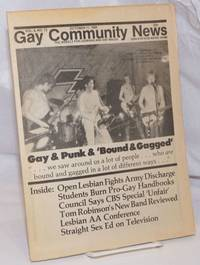 image of GCN: Gay Community News; the weekly for lesbians and gay males; vol. 8, #12, October 11, 1980; Gay_Punk_Bound_Gagged