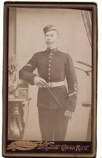 image of Attractive Carte-de-visite Photograph of a Soldier in Dress Uniform,