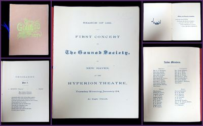 New Haven, CT: Gounod Society, January 24, 1888. The Gounod Society, founded in 1887, was a small ch...