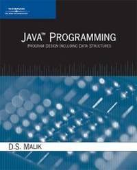 image of Java Programming: Program Design Including Data Structures