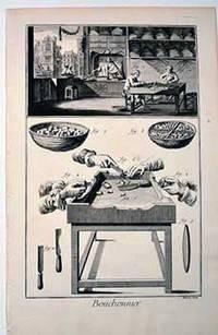 Bouchonnier [Wine Cork Maker]: Engraving from Denis Diderot and Jean Baptiste Le Rond d'Alembert:  Encyclopédie, ou dictionnaire raisonné des sciences, des arts et des métiers