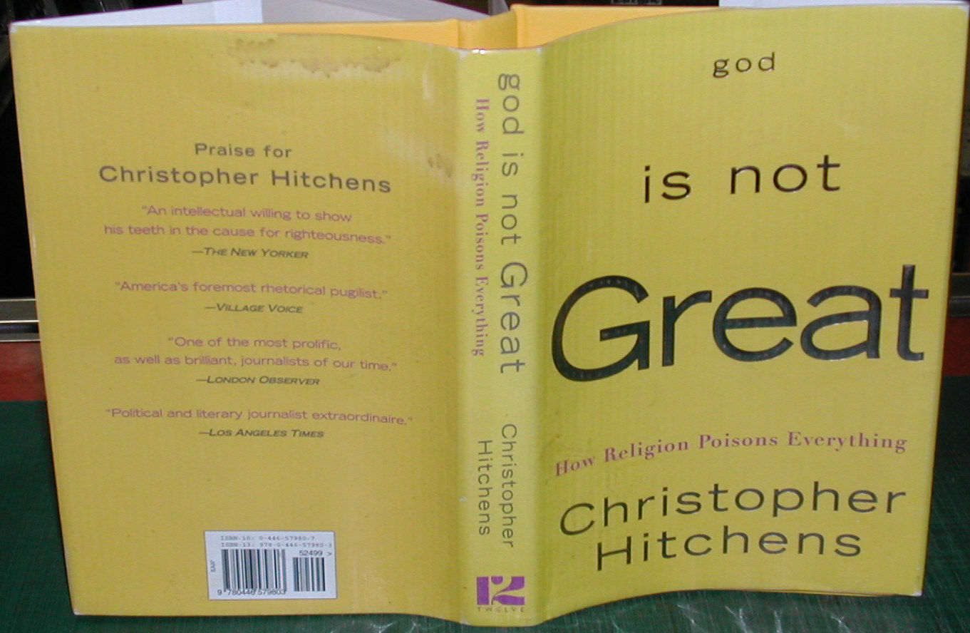 religion poisons everything by christopher hitchens The paperback of the god is not great: how religion poisons everything by christopher hitchens at barnes & noble free shipping on $25 or more.