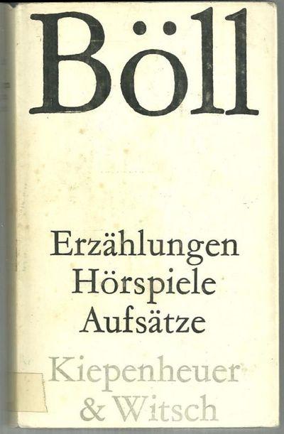 ERZÄHLUNGEN HÖRSPIELE AUFSÄTZE, Boll, Heinrich