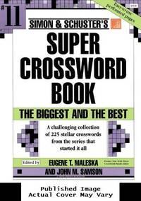 image of Simon_Schuster Super Crossword Book #11 (Simon_Schuster Super Crossword Books)
