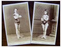Rare Original CDV Photos (carte-de-visite) of a Circus Couple in a Beautifully Matched Costume, Taken in Leipzig