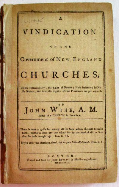 Boston: John Boyles, 1772. 80, 96, 68, pp. Original sheep , laid into a modern cloth box. Light brow...