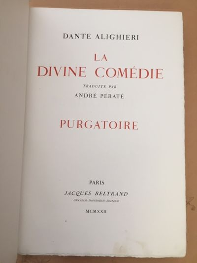 La Divine Comédie. Enfer....