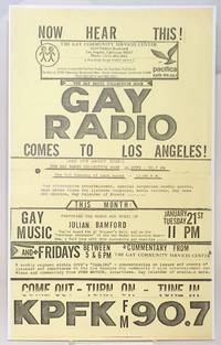 Now Hear This! Gay Radio Comes to Los Angeles! [handbill/poster] (and it\'s about time!) The Gay Radio Collective Hour on KPFK
