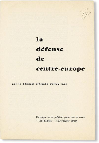 Paris: Les Essais, 1960. Offprint. Octavo (26cm.); disbound self-wrappers as issued; 8pp. Light wear...