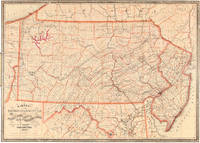 Railroad, Canal & County Map of Pennsylvania, New Jersey & Adjoining States