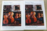 Research Papers in Violin Acoustics, 1975-1993 (In Two Volumes)
