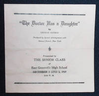 image of Program from a production of The Doctor Has a Daughter by George Batson by the Senior Class of East Greenville High School