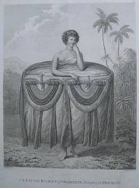 'A Young Woman of Otaheite, bringing a Present' after John Webber. Woman from Tahiti wearing...