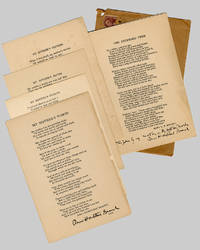 [Group of Inscribed Copies of Contributions to THE UNBOUND ANTHOLOGY]
